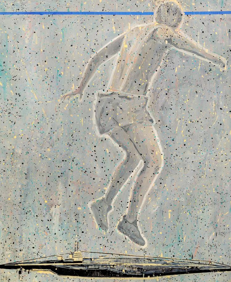 Run a Risk, 2019, oil on canvas, 170 x 140 cm.