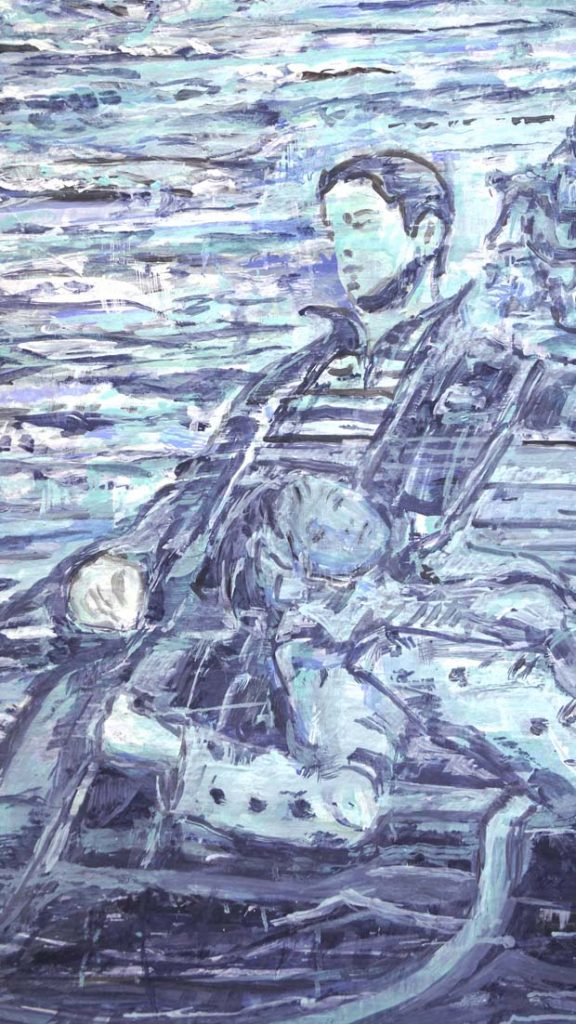 <b>A Boat (beneath a sunny sky)</b>,detail
